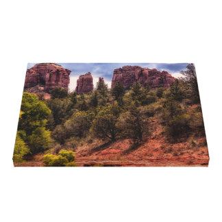 Impressão das canvas da paisagem da rocha da