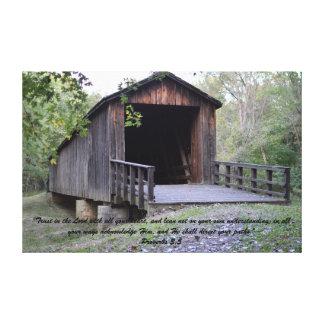 Impressão das canvas da ponte coberta da angra dos