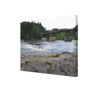 Impressão das canvas da ponte da montanha