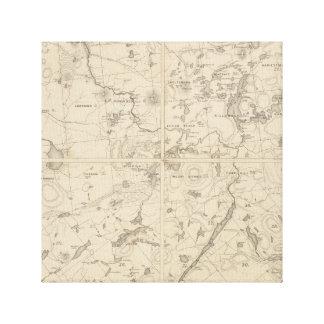 Impressão das canvas da região do lago Adirondack
