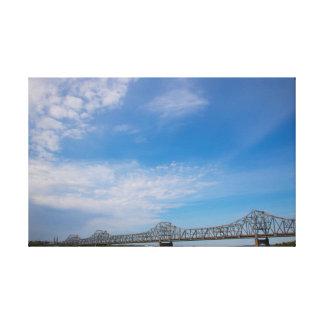 Impressão das canvas da skyline da ponte