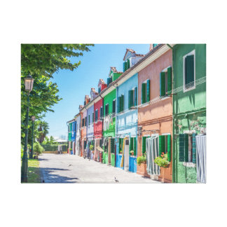 Impressão das canvas das casas de Burano