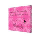 Impressão das canvas das citações da borboleta impressão em canvas