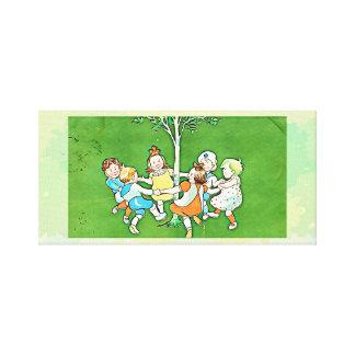 Impressão das canvas das crianças da dança -