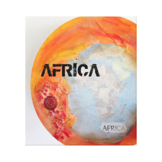 Impressão das canvas de África do por do sol do