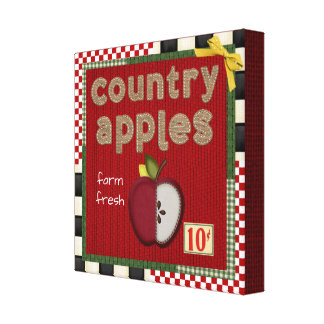 """""""IMPRESSÃO das CANVAS de Apple bonito do país"""""""