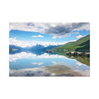 Impressão das canvas de McDonald do lago