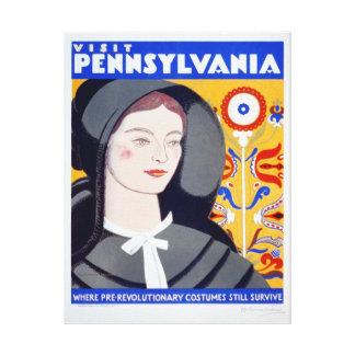 Impressão das canvas de Pensilvânia da visita das