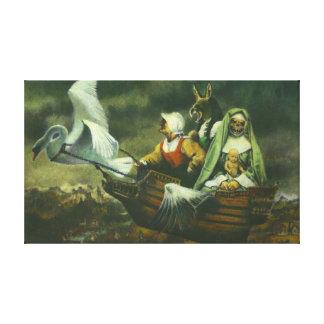 Impressão das canvas de três bruxas