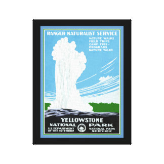 Impressão das canvas de Yellowstone
