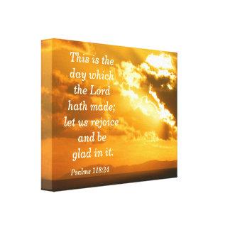 Impressão das canvas do 118:24 dos salmos