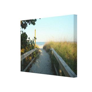 Impressão das canvas do acesso da praia