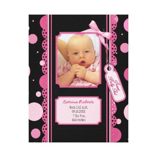 Impressão das canvas do bebé das bolinhas impressão de canvas esticada