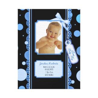 Impressão das canvas do bebé das bolinhas impressão de canvas esticadas