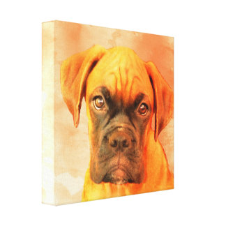 Impressão das canvas do cão do pugilista