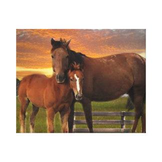 Impressão das canvas do cavalo e do pônei