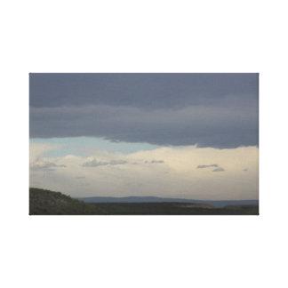 Impressão das canvas do céu nebuloso
