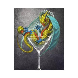 Impressão das canvas do dragão 8x10 de Martini