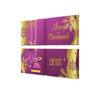 Impressão das canvas do Feliz Natal Impressão De Canvas Envolvida