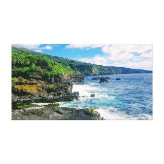 Impressão das canvas do litoral de Maui