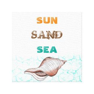 Impressão das canvas do mar da areia de Sun