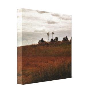 Impressão das canvas do moinho de vento do país