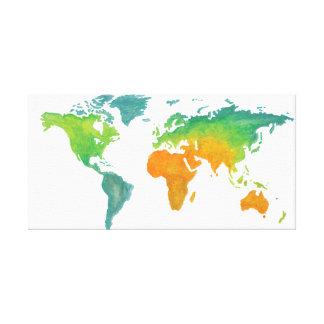 Impressão das canvas do mundo da aguarela