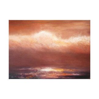 Impressão das canvas do oceano das nuvens do âmbar