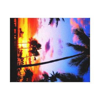 Impressão das canvas do paraíso do por do sol impressão de canvas esticadas