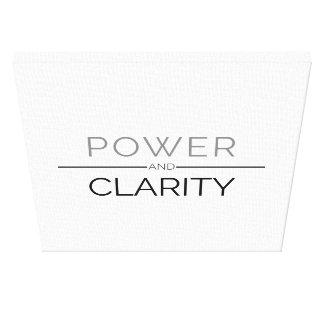 Impressão das canvas do poder e da claridade