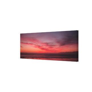 Impressão das canvas do por do sol