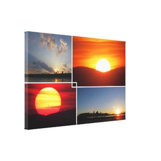 impressão das canvas do pôr do sol 4-Photo