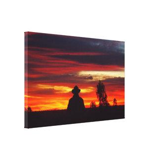 Impressão das canvas do por do sol de Julia Creek