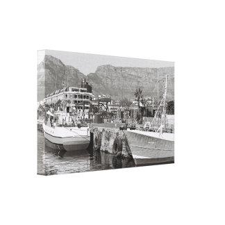 Impressão das canvas do porto do beira-rio de Cape