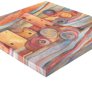 Impressão das canvas do povoado indígeno impressão em canvas