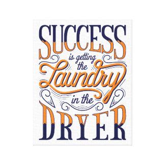 Impressão das canvas do sucesso da lavanderia