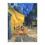 """Impressão das canvas - do """"terraço café na noite """" impressão de canvas esticadas"""