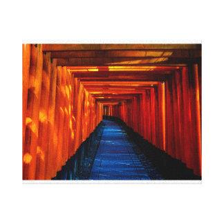 Impressão das canvas do trajeto da porta de Torii