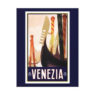 Impressão das canvas do turismo de Venezia
