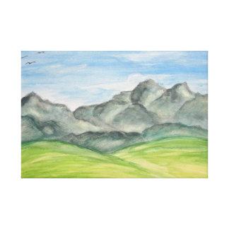 Impressão das canvas do vale da montanha