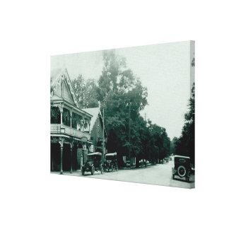 Impressão das canvas do vintage da vila de