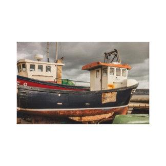 Impressão das canvas dos barcos de pesca de Lyme