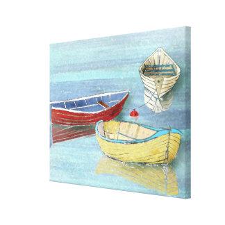 Impressão das canvas dos barcos do verão em