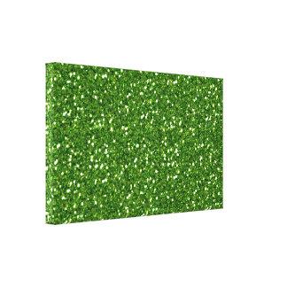 Impressão das canvas dos brilhos do verde impressão em canvas
