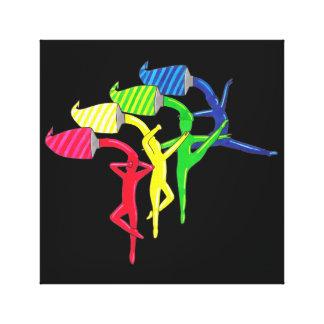 Impressão das canvas dos dançarinos do arco-íris