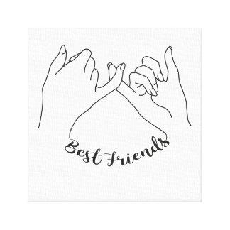 Impressão das canvas dos melhores amigos