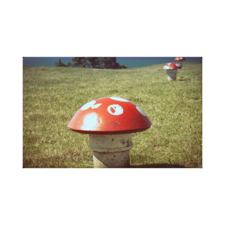 Impressão das canvas dos respiradouros do cogumelo