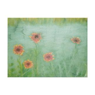 Impressão das canvas dos WILDFLOWERS do VERÃO Impressão Em Tela