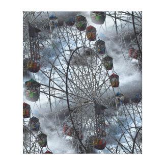 Impressão das canvas - Ferris roda nubla-se dentro