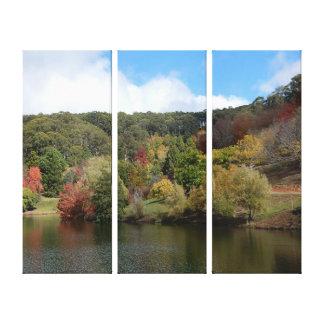 Impressão das canvas - lago autumn